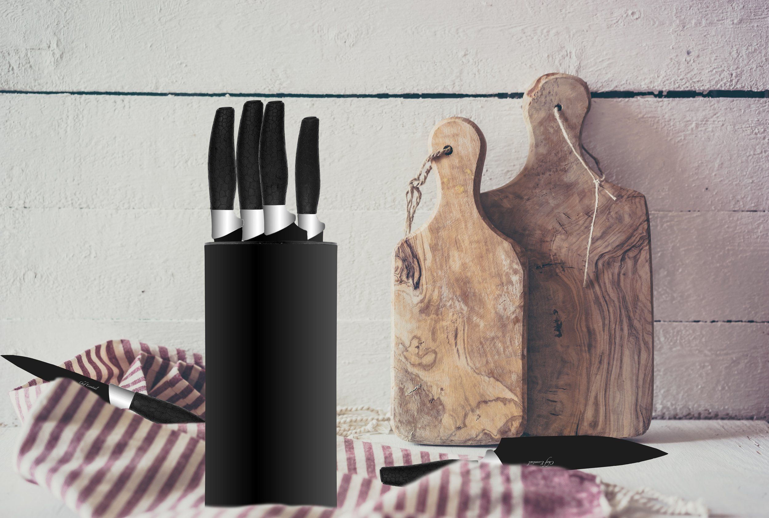 Chef Essential 7 Piece Knife Block Set, NEC Series, Black by Chef Essential (Image #6)