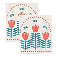 Now Designs Swedish Dishcloths, Set of 2, Tulipa Print