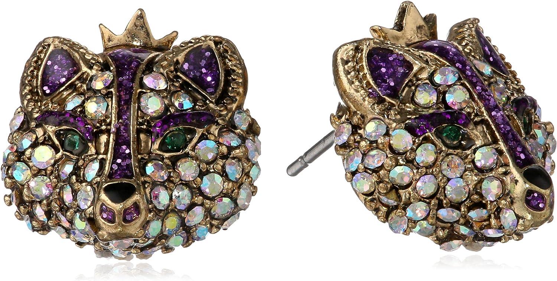 "Betsey Johnson""Imperial Princess"" Fox Stud Earrings"
