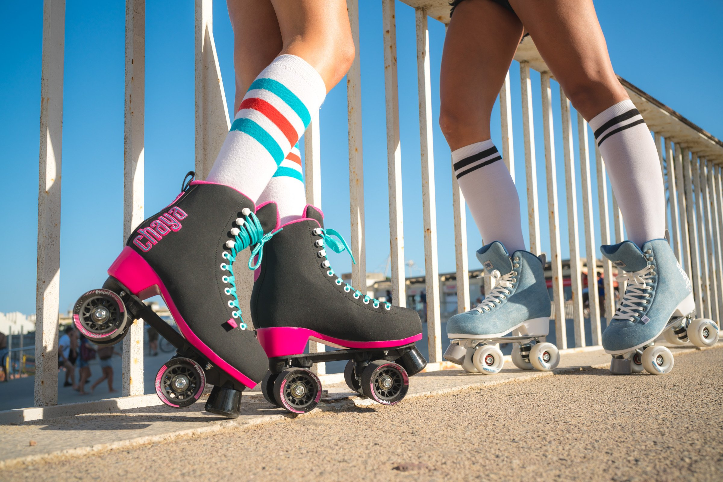 Chaya Melrose Black & Pink Quad Indoor/Outdoor Roller Skates (Euro 40 / US 9) by Chaya (Image #5)