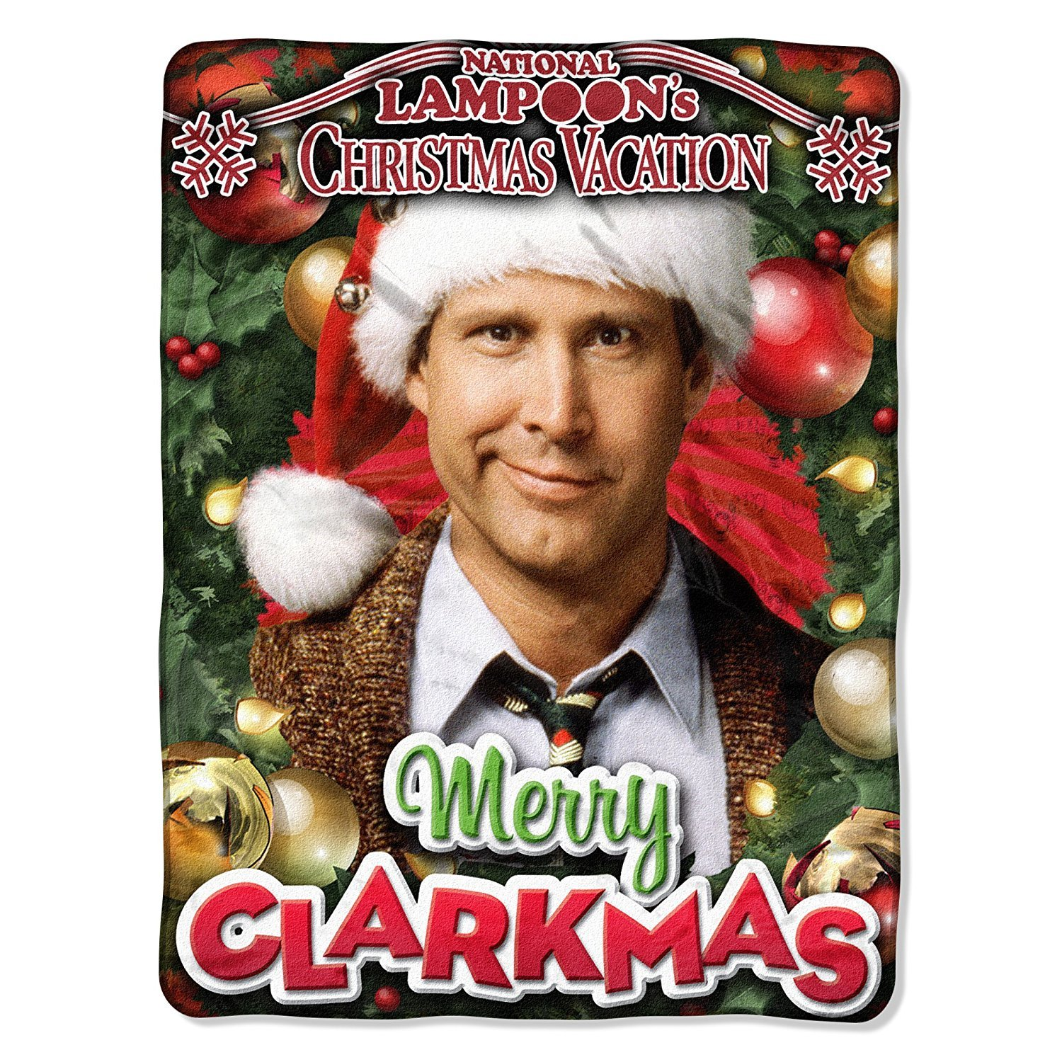 Warner Brothers National Lampoon's Christmas Vacation, Merry Clarkmas Micro Raschel Throw Blanket, 46'' x 60''