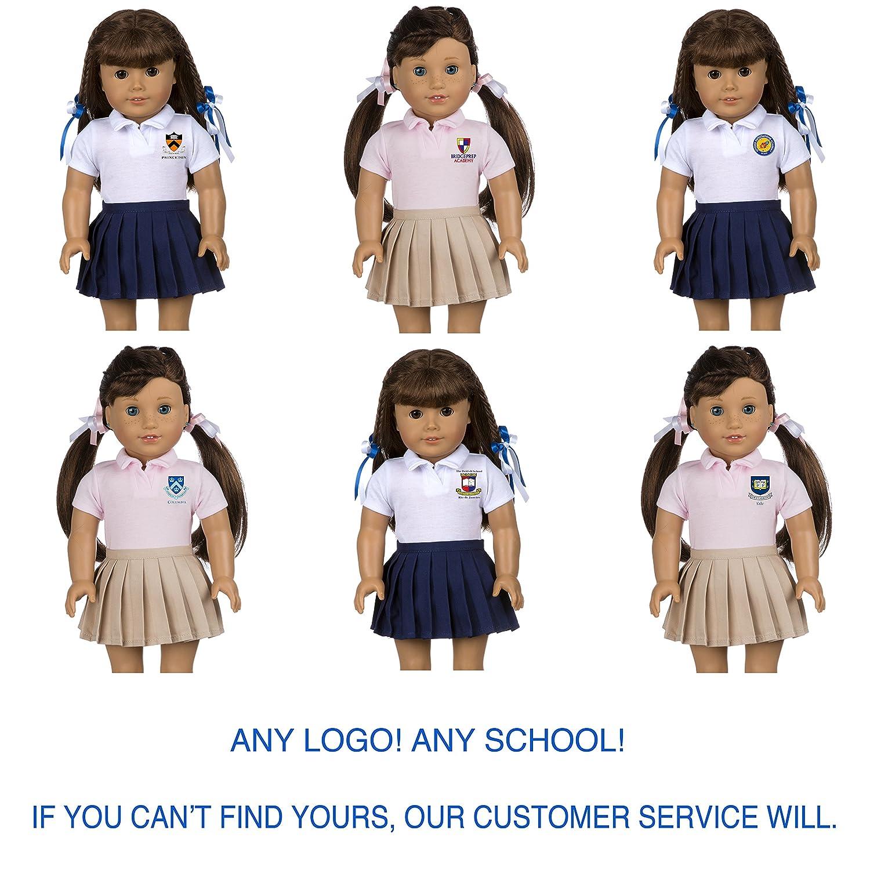 8b83acf69d62 Amazon.com  CUSTOMIZABLE School Uniform for American Girl Doll ...