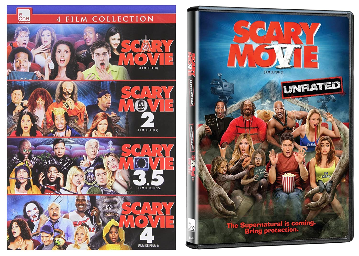 Amazon Com Scary Movie 5 Film Collection 1 5 Dvd Charlie Sheen Denise Richards Anna Faris Carmen Electra Movies Tv