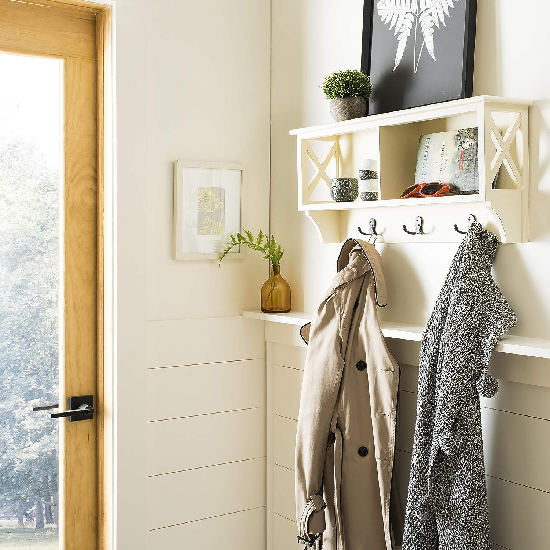 Safavieh Home Collection Freya White Hanging Storage Wall Coat Rack,