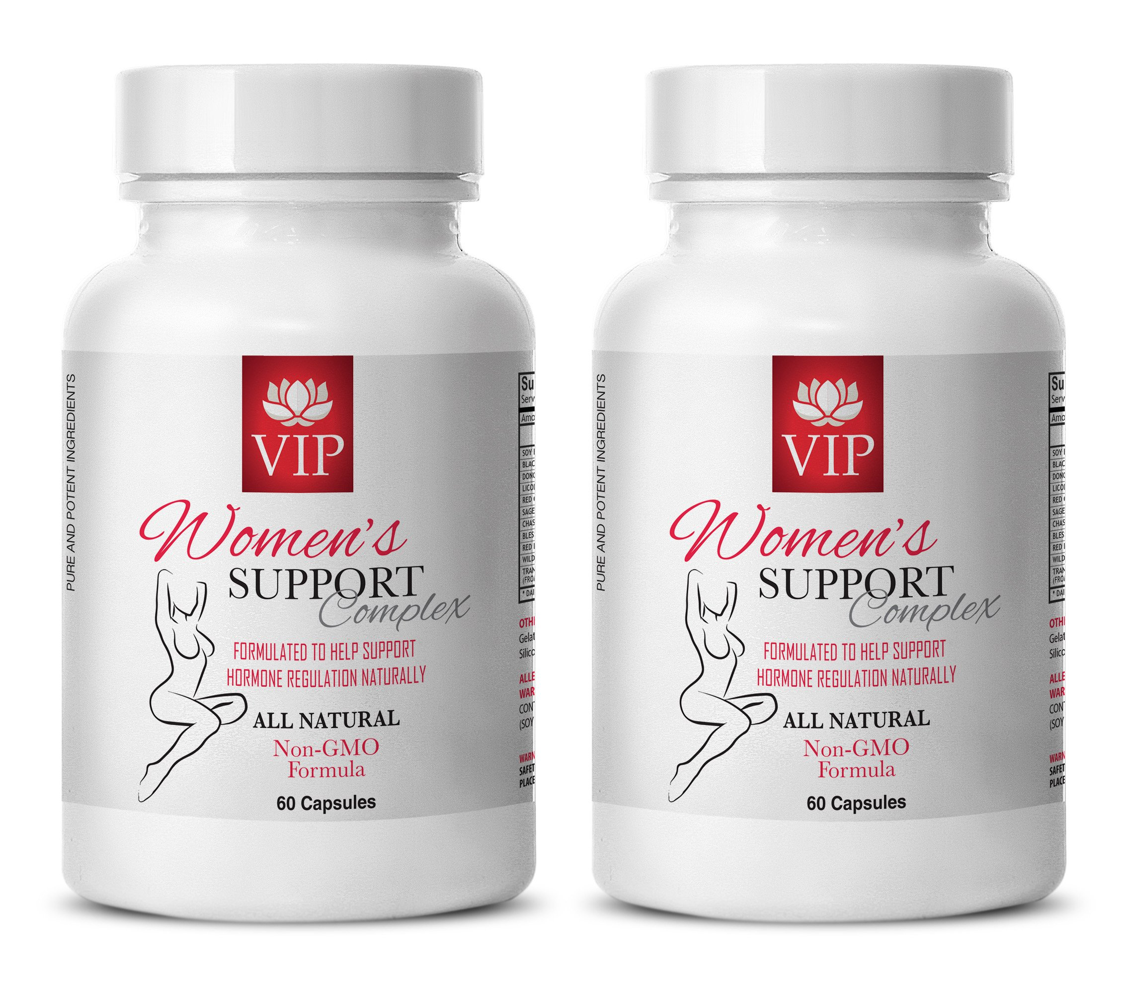 Menopause pills for women - WOMEN'S SUPPORT COMPLEX NATURAL - Red clover combination - 2 Bottle (120 Capsules)