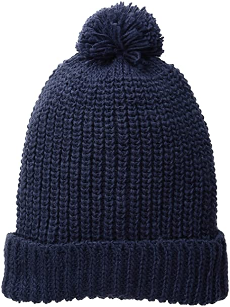aa5a348c2ae San Diego Hat Company Women s Solid Knit Beanie with Cuff Pom ...
