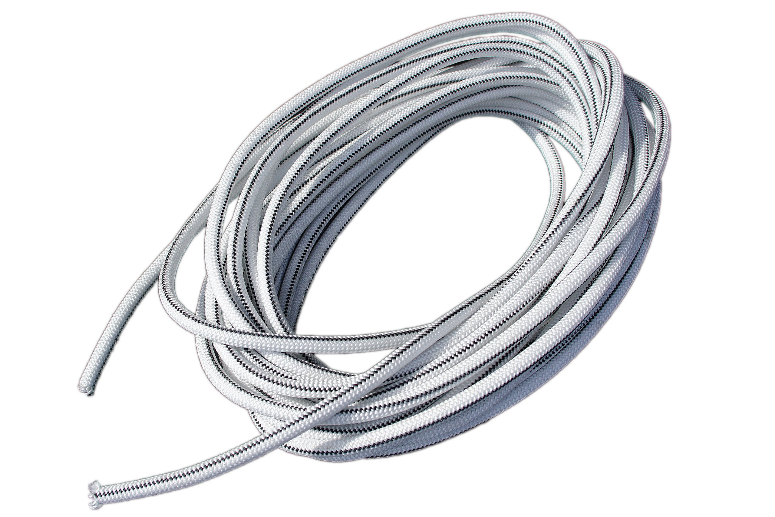 1/4'' x 100' White Shock Bungee Rubber Rope Cord - Woven Jacketed by Harriscos LLC