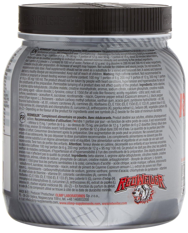 Olimp Sport Nutrition Redweiler Orange Pre-Entrenamiento - 480 gr: Amazon.es: Salud y cuidado personal