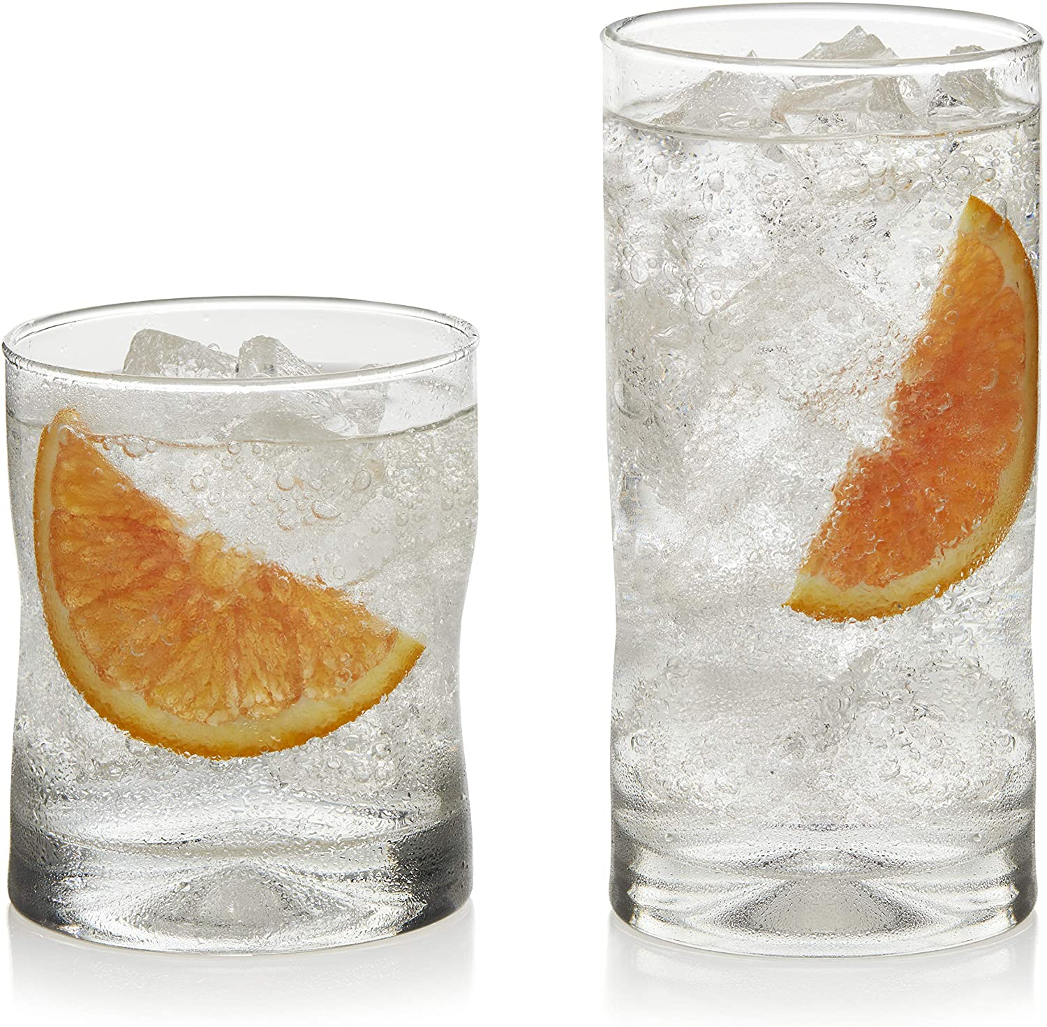 Libbey Impressions 16-Piece Tumbler and Rocks Glass Set