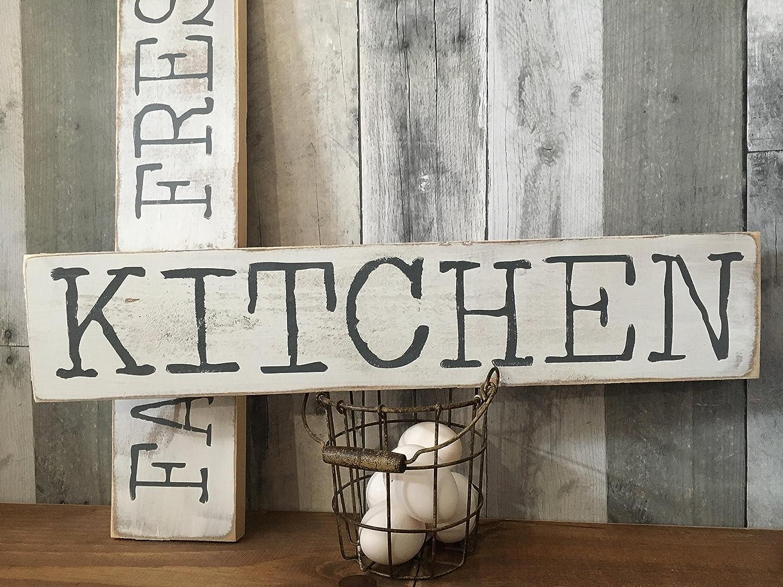 Amazon.com: FARMHOUSE KITCHEN DECOR - RUSTIC KITCHEN SIGN ...