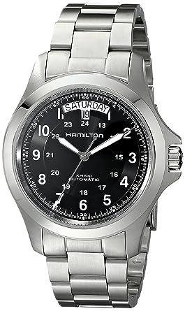 73deaab3ba7 Amazon.com  Hamilton Men s H64455133 Khaki King II Black Dial Watch ...