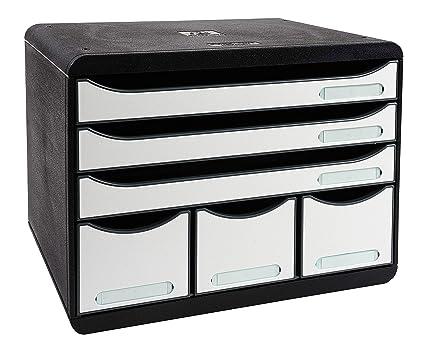 Exacompta Storebox Maxi cajonera para oficina Negro ...