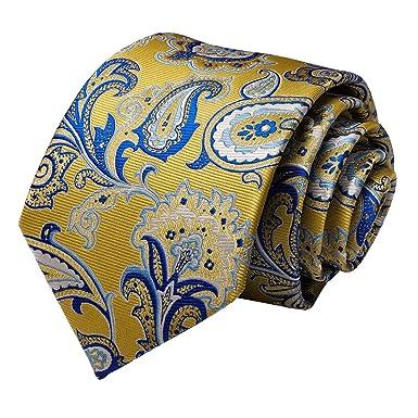 DiBanGu - Juego de corbatas de seda cuadradas con diseño de ...