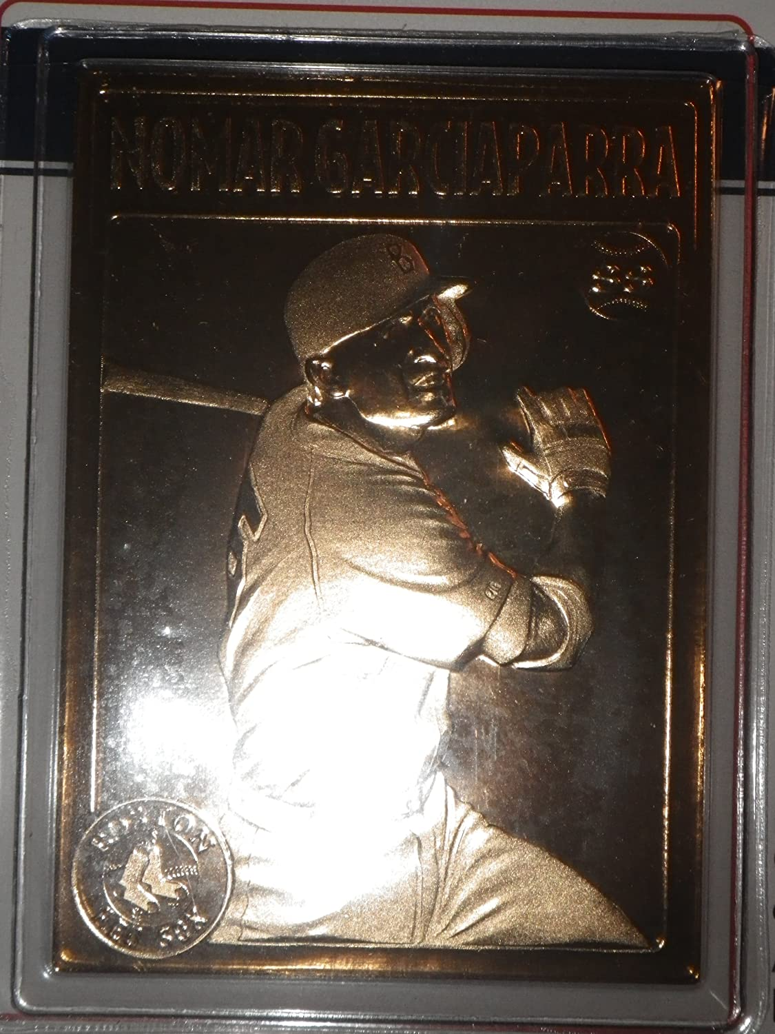Red Sox 1999 Nomar Garciaparra /& Pedro Martinez Official 22kt Gold Cards By the Danbury Mint