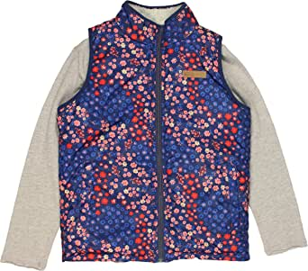 Buffalo David Bitton Girl's 2-Piece Reversible Full Zip Vest with Long Sleeve Shirt