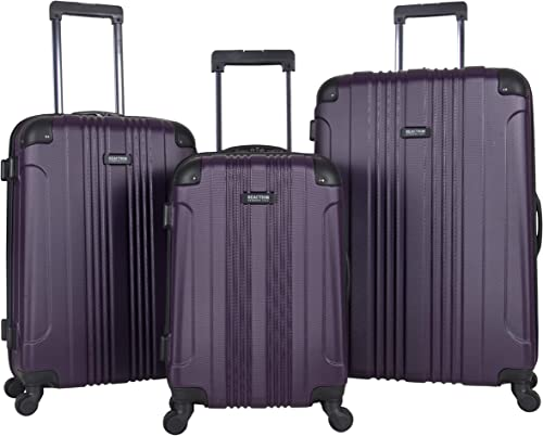 Kenneth Cole Reaction Out Of Bounds 3-Piece Lightweight Hardside 4-Wheel Spinner Luggage Set 20 Carry-On, 24 , 28