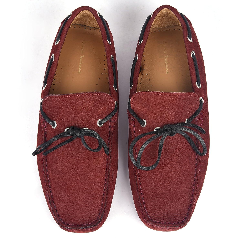 Classe Italiana Romain Burgundy Nubuck Loafers