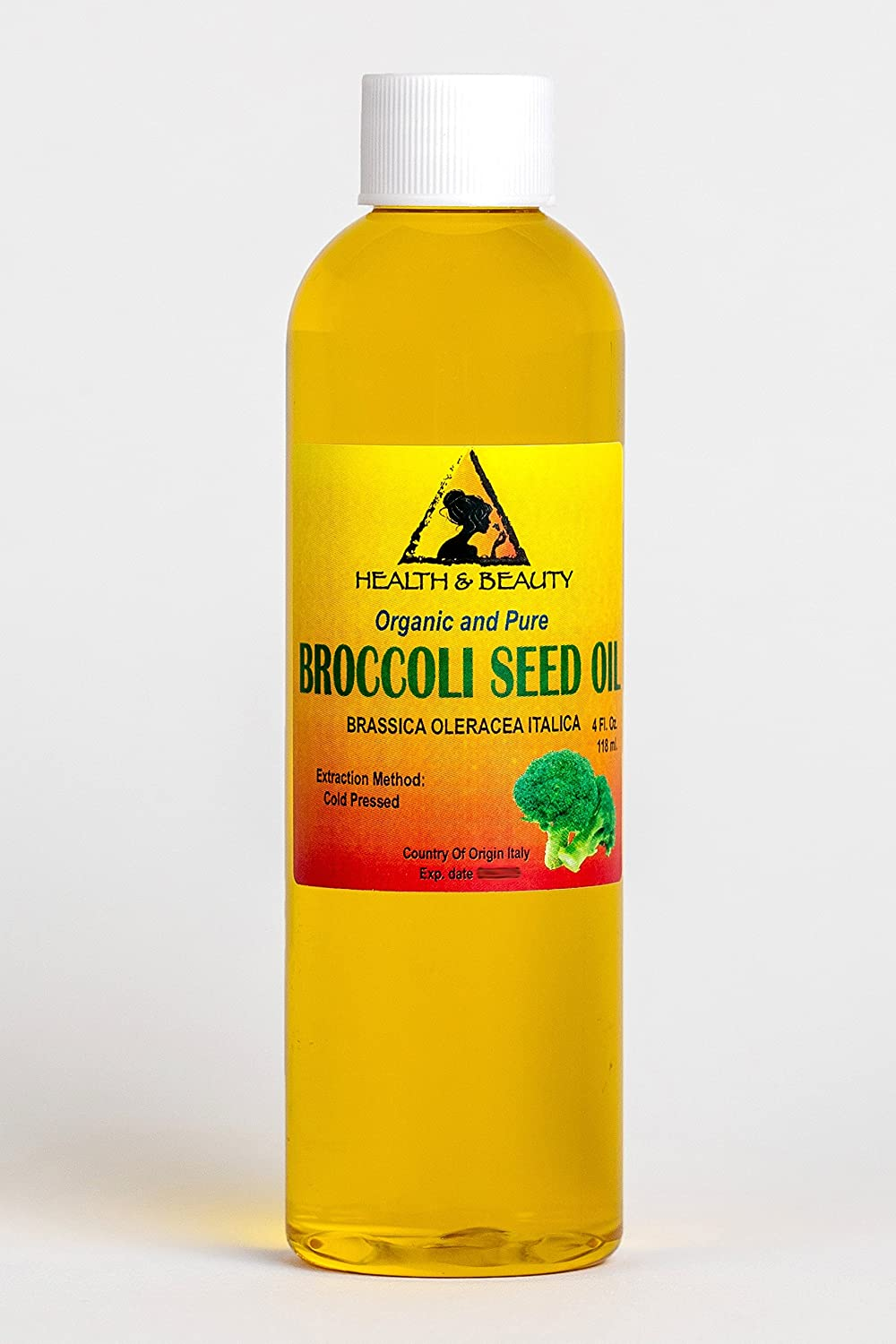 Broccoli Seed Oil Organic Carrier Cold Pressed Anti-Aging Natural Fresh 100% Pure 4 oz, 118 ml H&B OILS CENTER Co.