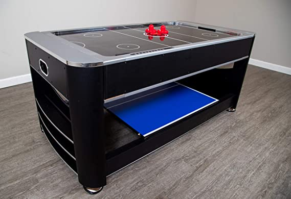 Triple Threat 6 Ft 3 In 1 Multi Game Table With Billiards Air Hockey And Table Tennis Sports Outdoors