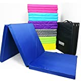 Komodo Tri Fold Folding Mat 6ft / 180cm x 60cm x 5cm Exercise Gym Train Workout Padded Pilates