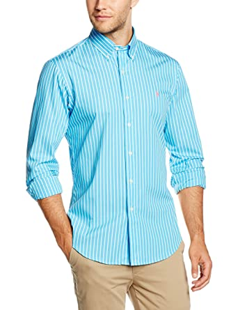 Polo Ralph Lauren SL BD PPCSP2-LONG Sleeve-Sport Camisa, Azul ...