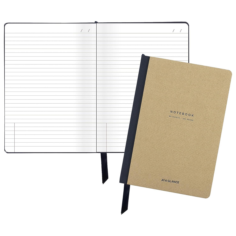 AT-A-GLANCE profesional reunión Notebook, 5,88 x 8,75 Pulgadas, colección, marrón Medium (yp13507), color azul Medium marrón d301fe