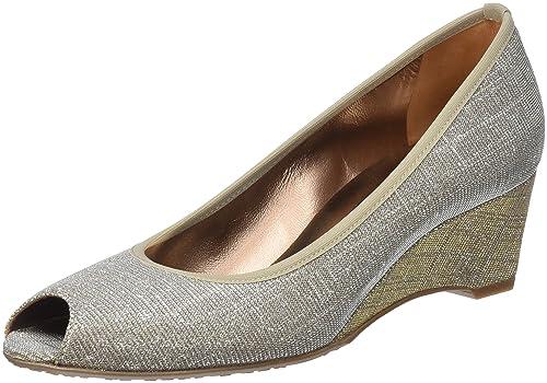 Zapatos plateado de punta abierta Mascaro para mujer 25NZ8p2I