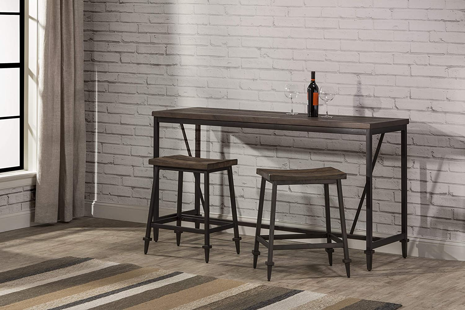 Hillsdale Furniture Trevino 3 Piece Counter height dining set Brown