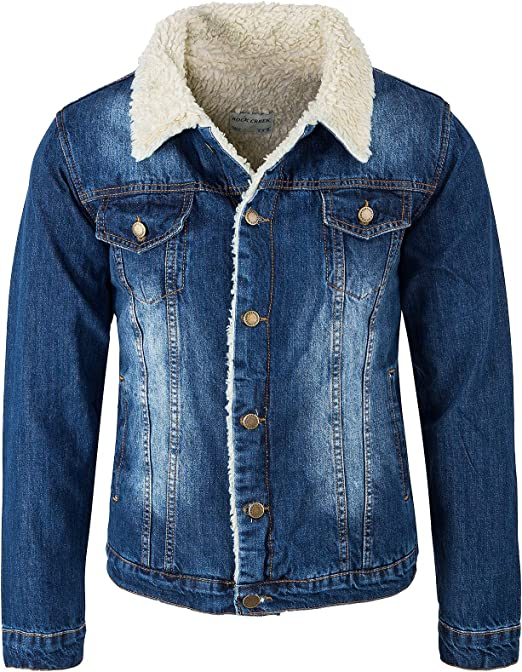 jeans jacke mit teddyfutter