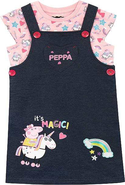 Peppa Pig Vestito per Ragazze Unicorni e arcobaleni
