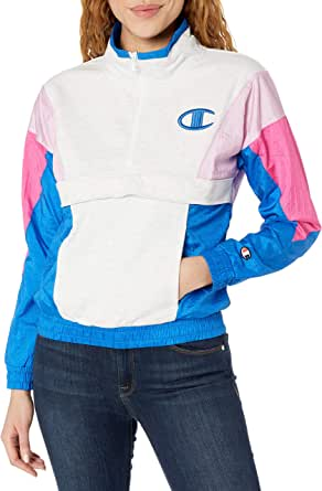 Champion Life Womens JL5742 Mixed Media Pullover Jacket - Multi