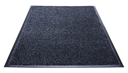 Burgundy Guardian Platinum Series Indoor Wiper Floor Mat 2x2 Rubber with Nylon Carpet