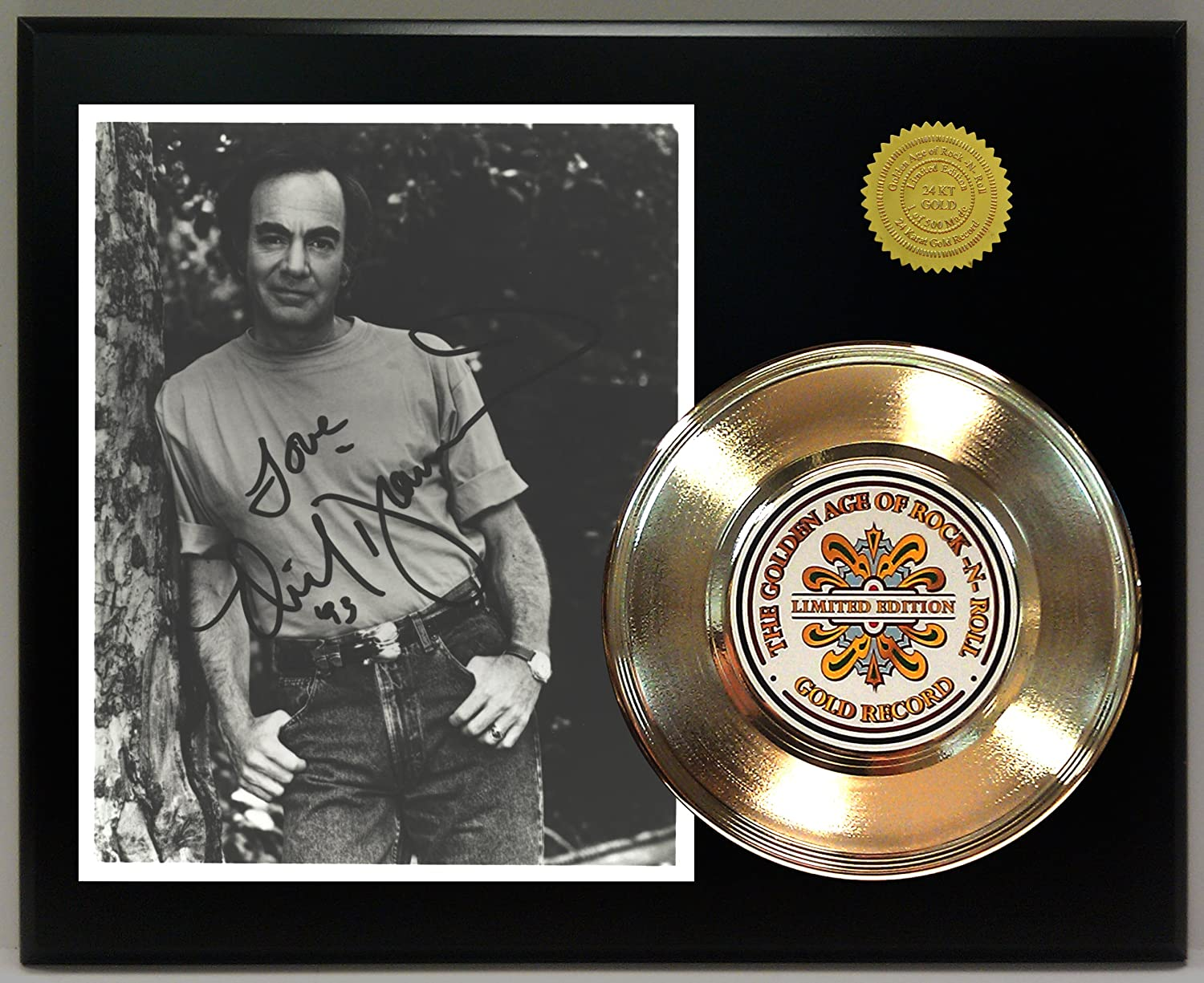 Neil Diamond Gold Record Signature Series LTD Edition Display Gold Record Outlet