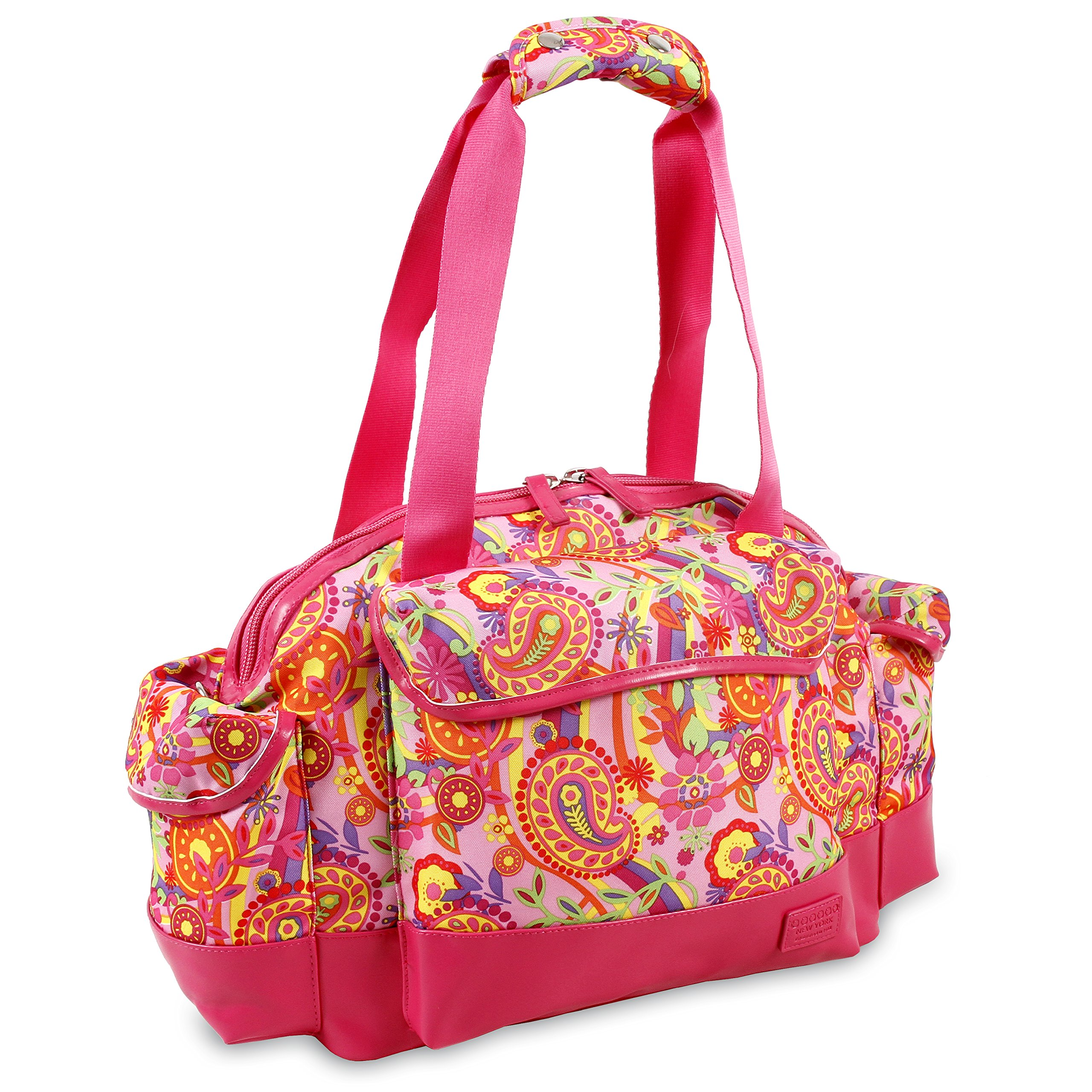 J World New York Deca Duffel Bag, Pink Paisley
