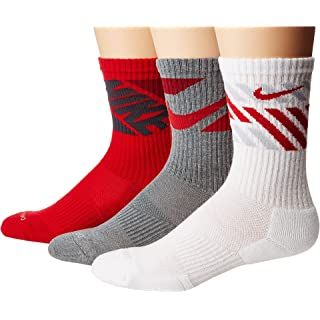 Nike Everyday Max Cushion Graphic Crew Training Socks (3 Pair) (Multicolor Medium)