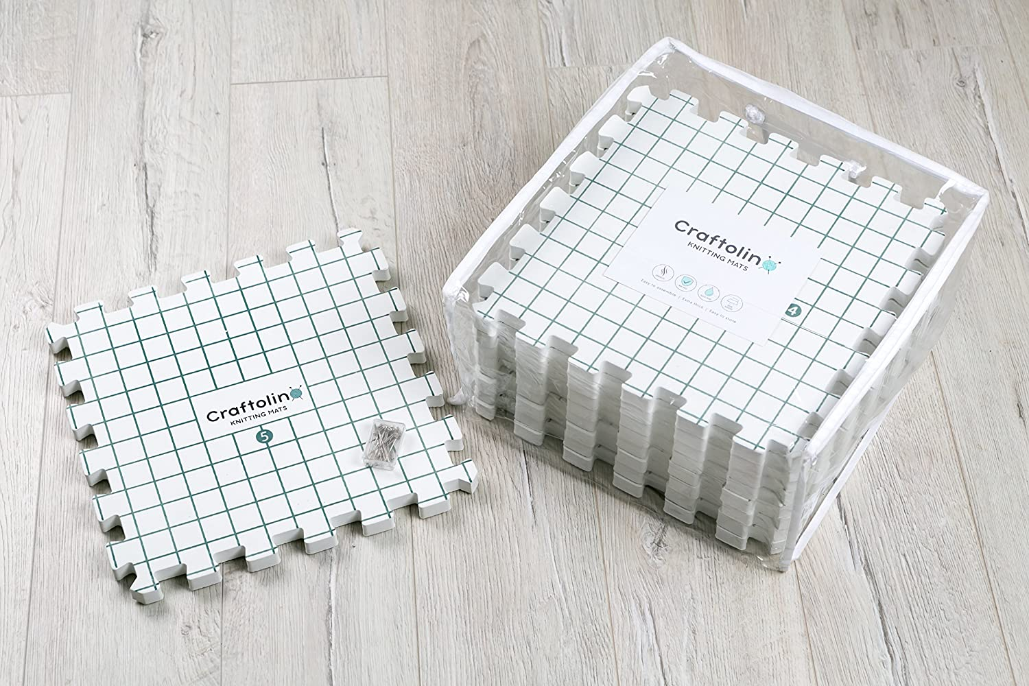 Craftolino Blocking Mats for Knitting - 9 Extra Thick Boards With 1 ...