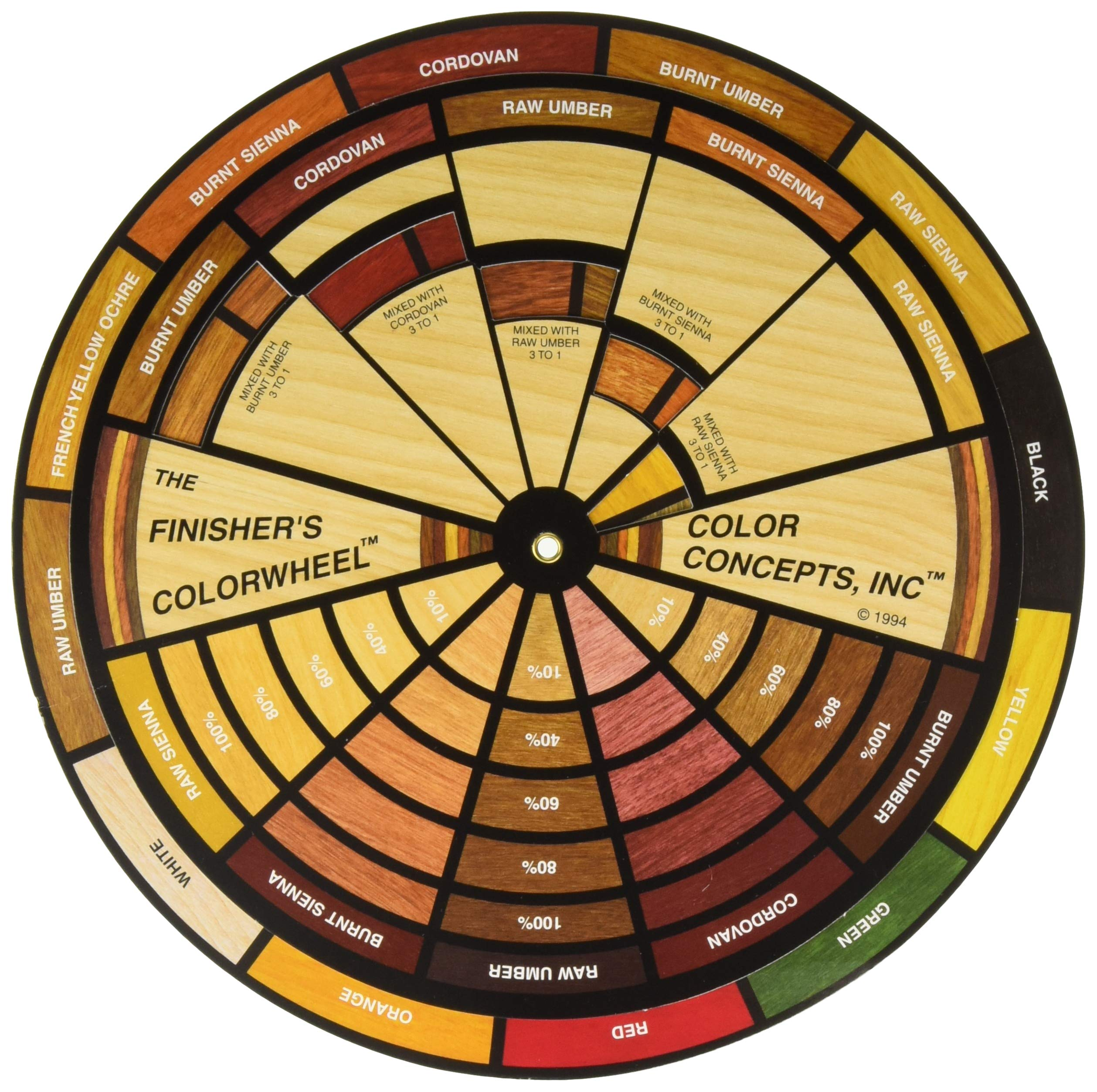 Mohawk Finishing Products M900-1050 Mohawk Finisher's Colorwheel 9'' Dia Color Wheel Multi