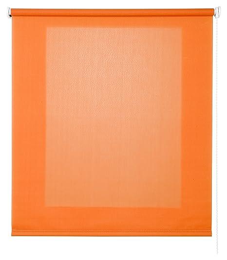 Estores Basic- Enrollable Traslúcido , Naranja, 120x250 cm