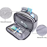 Toiletry Bag Dopp Kit with Dual Compartments and Handle, Waterproof