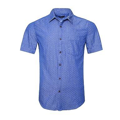 sito affidabile 37c95 6ed1b SOOPO Camicia Uomo Manica Corta Camicia Donna Manica Corta Monocolore  Camicia Casual, Vari Stili e Taglie