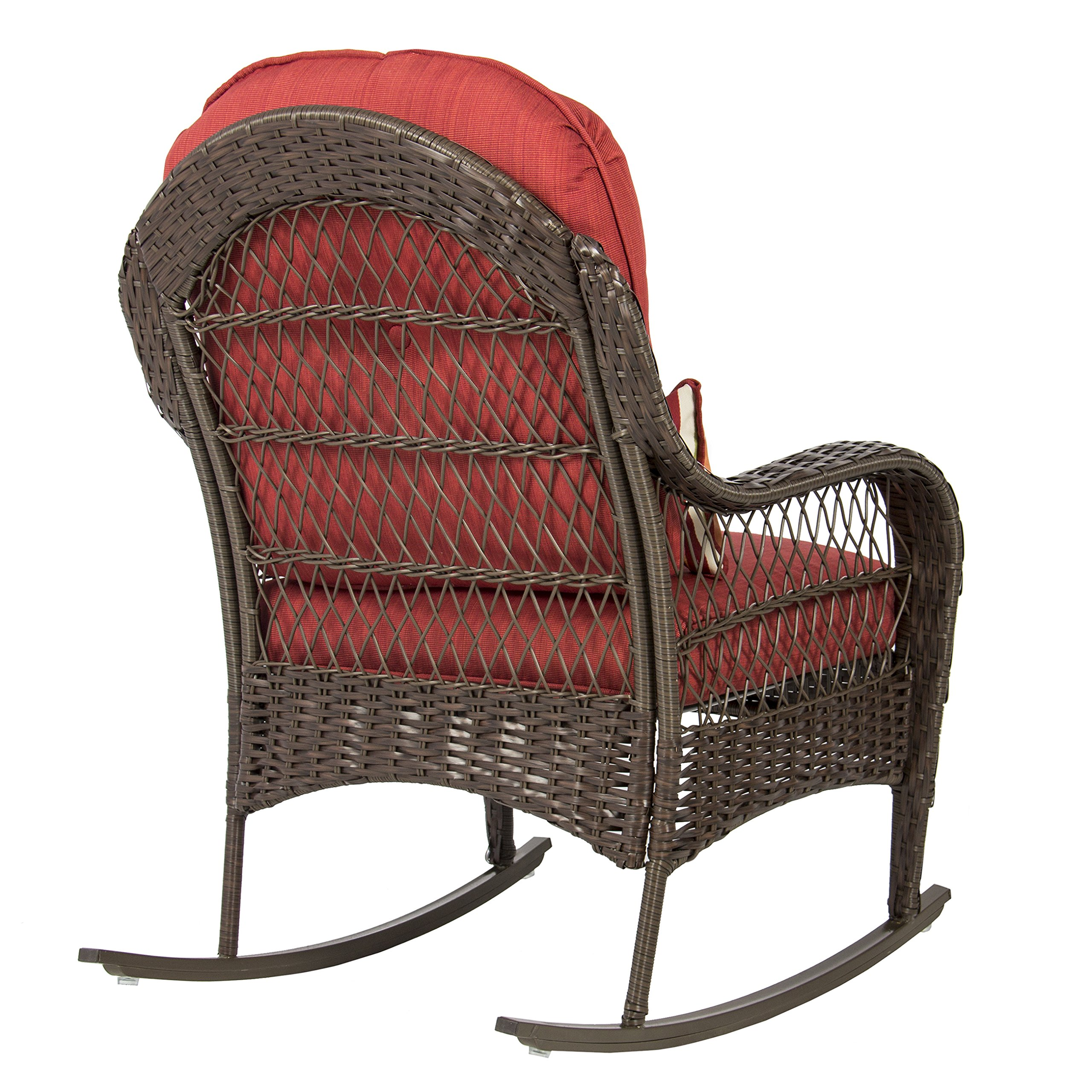 Best ChoiceProducts Wicker Rocking Chair Patio Porch Deck Furniture All Weather Proof with Cushions by Best Choice Products (Image #3)