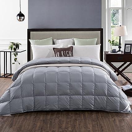 Amazoncom Lightweight 100 White Goose Down Comforter Blanket For