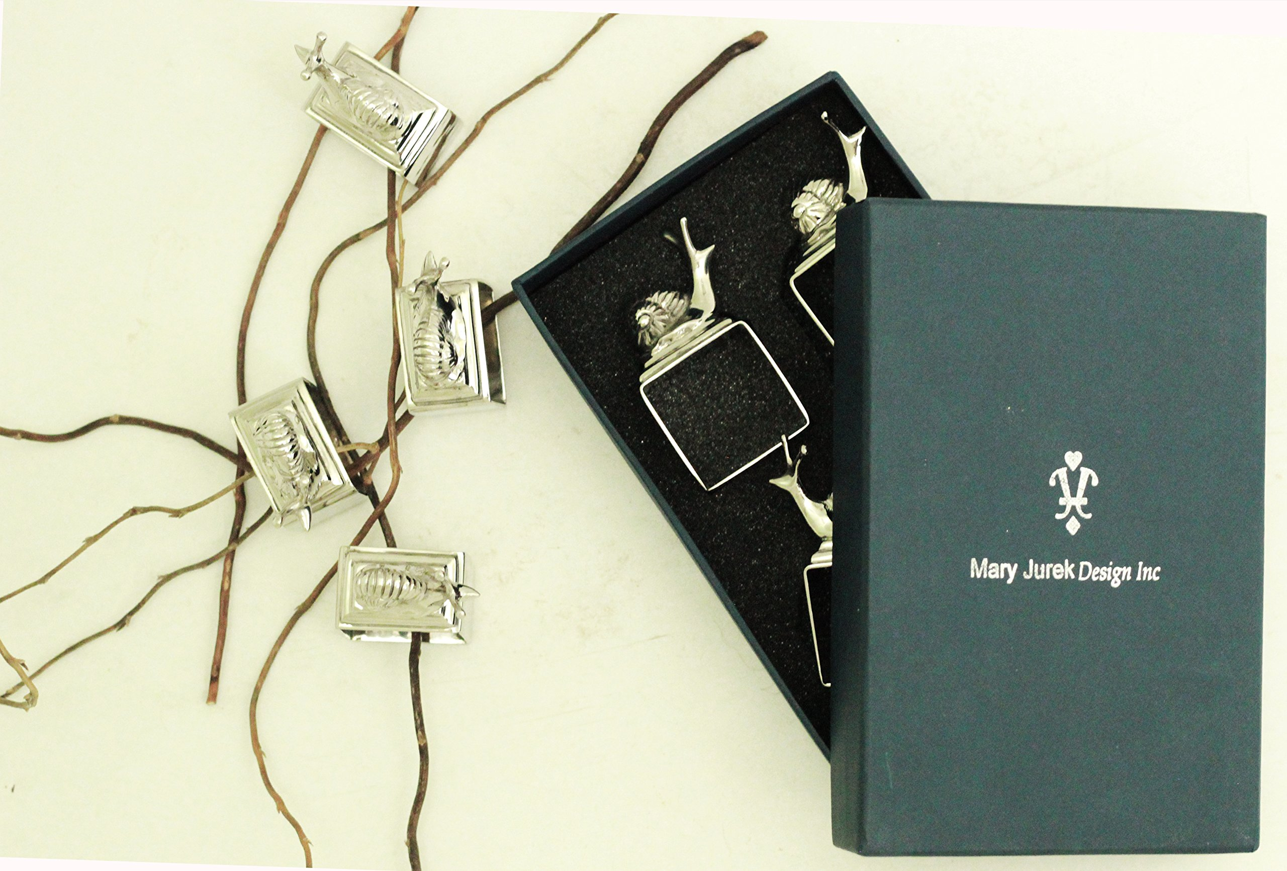 Mary Jurek Design Animal Collection Snail Napkin Rings | Set of 4