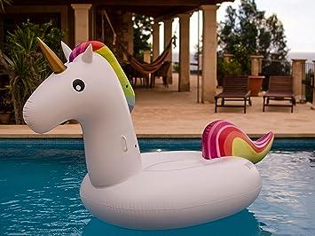 beachbrothers Fortuna Unicornio Aire Colchón hinchable: Amazon.es ...