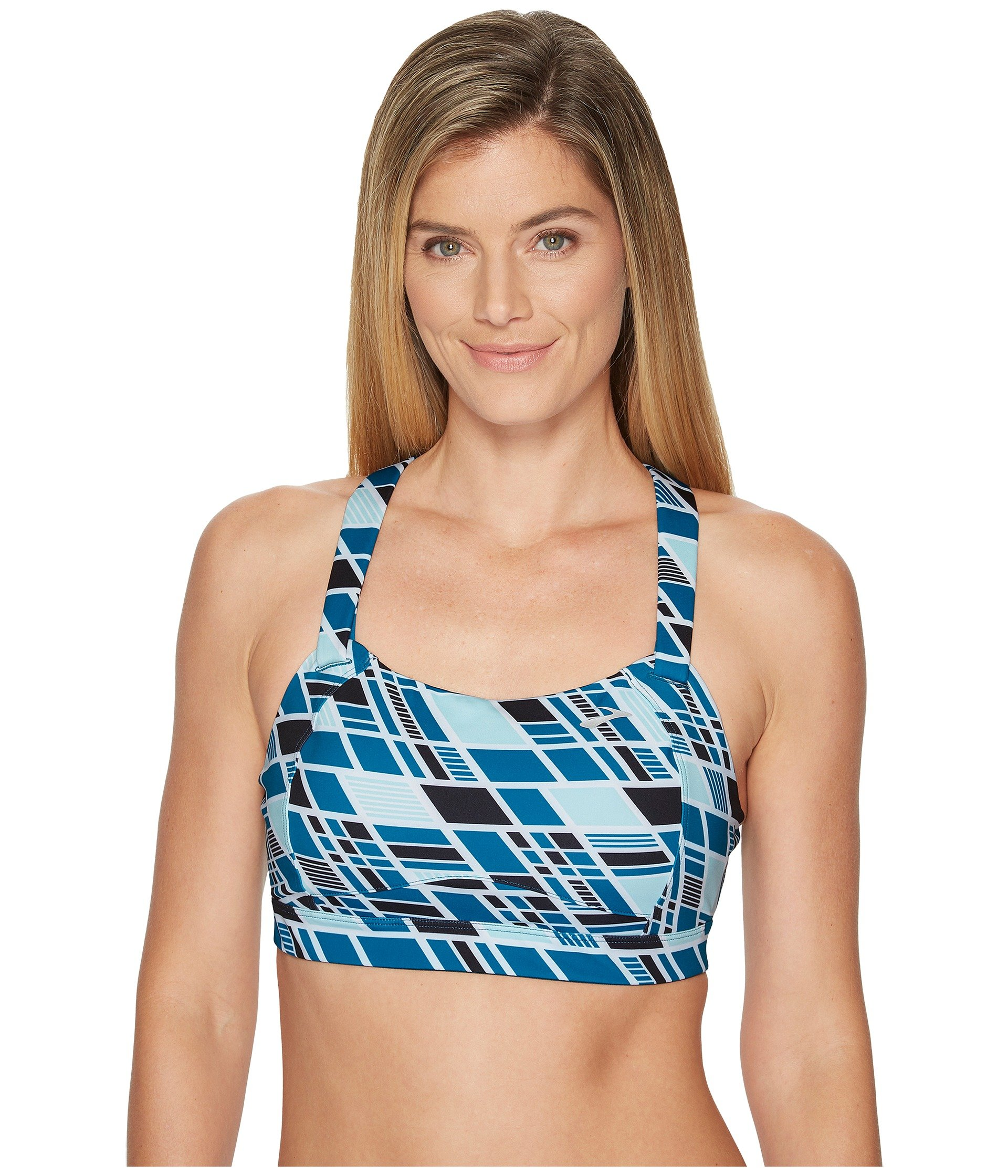 Brooks Juno High Impact Wire-Free Sports Bra, 30C, Ocean Wave