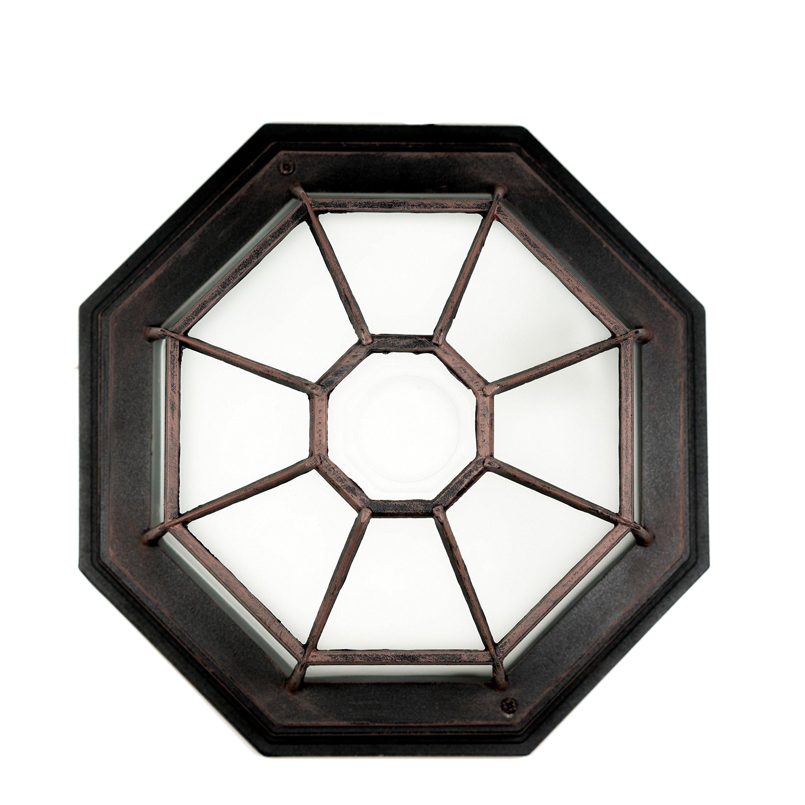Trans Globe Lighting 40582 RT Outdoor Benkert 5'' Flushmount Lantern, Rust by Trans Globe Lighting (Image #2)