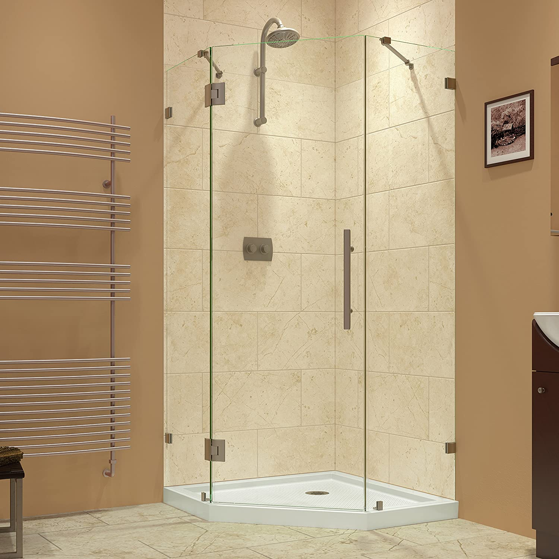 dreamline dl 6051 04 prism lux frameless hinged shower enclosure