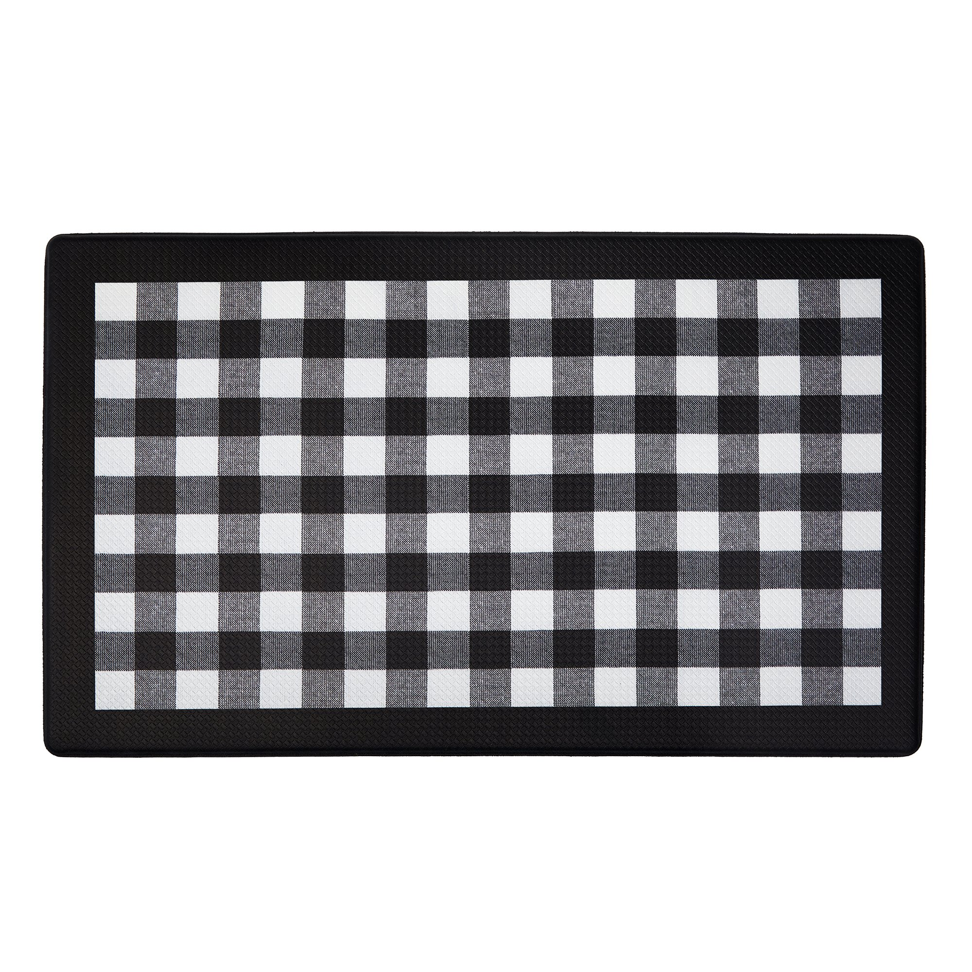 Achim Home Furnishings ANFTMBBK12 Buffalo Check Anti Fatigue Mat, 18'' x 30'', Black by Achim Home Furnishings