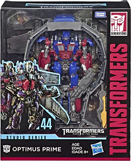 Amazon Com Transformers Toys Studio Series 44 Leader Class Dark Of The Moon Movie Optimus Prime Action Figure Kids Ages 8 Up 8 5 Toys Games