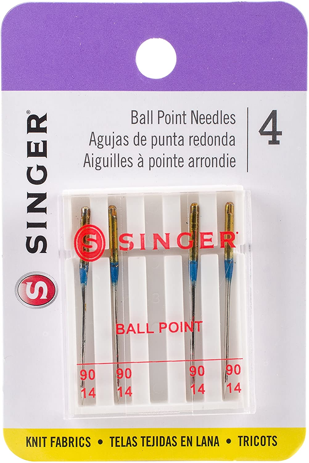 Assorted Sizes SINGER 4863 Universal Ball Point Machine Needles 5-Count